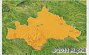 Political 3D Map of Sisak-Moslavina, satellite outside