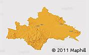 Political 3D Map of Sisak-Moslavina, single color outside