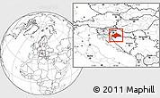 Blank Location Map of Sisak-Moslavina