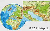 Physical Location Map of Sisak-Moslavina