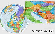 Political Location Map of Sisak-Moslavina