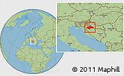 Savanna Style Location Map of Sisak-Moslavina