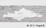 Gray Panoramic Map of Sisak-Moslavina