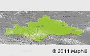Physical Panoramic Map of Sisak-Moslavina, desaturated