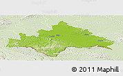 Physical Panoramic Map of Sisak-Moslavina, lighten