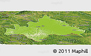 Physical Panoramic Map of Sisak-Moslavina, satellite outside