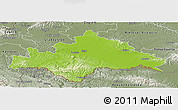 Physical Panoramic Map of Sisak-Moslavina, semi-desaturated