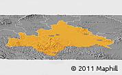 Political Panoramic Map of Sisak-Moslavina, desaturated
