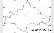 Blank Simple Map of Sisak-Moslavina, cropped outside