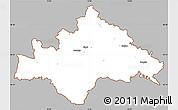 Gray Simple Map of Sisak-Moslavina, cropped outside