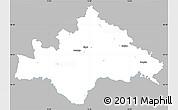 Gray Simple Map of Sisak-Moslavina, single color outside
