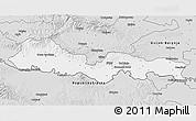 Silver Style 3D Map of Slavonski Brod-Posavina