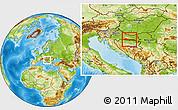 Physical Location Map of Slavonski Brod-Posavina
