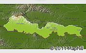 Physical Map of Slavonski Brod-Posavina, darken