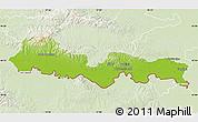 Physical Map of Slavonski Brod-Posavina, lighten