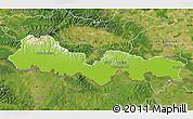 Physical Map of Slavonski Brod-Posavina, satellite outside