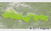 Physical Map of Slavonski Brod-Posavina, semi-desaturated