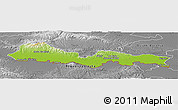 Physical Panoramic Map of Slavonski Brod-Posavina, desaturated