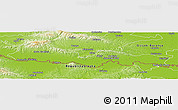 Physical Panoramic Map of Slavonski Brod-Posavina