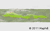 Physical Panoramic Map of Slavonski Brod-Posavina, semi-desaturated