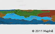 Political Panoramic Map of Slavonski Brod-Posavina, darken