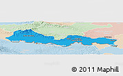 Political Panoramic Map of Slavonski Brod-Posavina, lighten