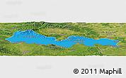 Political Panoramic Map of Slavonski Brod-Posavina, satellite outside