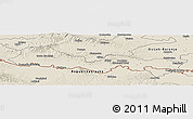 Shaded Relief Panoramic Map of Slavonski Brod-Posavina