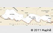 Classic Style Simple Map of Slavonski Brod-Posavina
