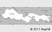 Gray Simple Map of Slavonski Brod-Posavina