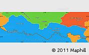 Political Simple Map of Slavonski Brod-Posavina