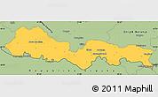 Savanna Style Simple Map of Slavonski Brod-Posavina