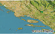 Satellite 3D Map of Split-Dalmatija