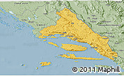 Savanna Style 3D Map of Split-Dalmatija