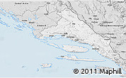 Silver Style 3D Map of Split-Dalmatija