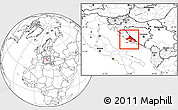 Blank Location Map of Split-Dalmatija