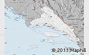 Gray Map of Split-Dalmatija