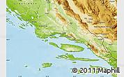 Physical Map of Split-Dalmatija