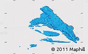 Political Map of Split-Dalmatija, cropped outside