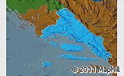 Political Map of Split-Dalmatija, darken