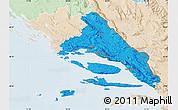 Political Map of Split-Dalmatija, lighten