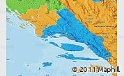 Political Map of Split-Dalmatija