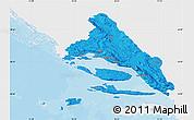 Political Map of Split-Dalmatija, single color outside