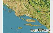 Satellite Map of Split-Dalmatija