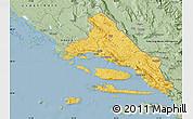 Savanna Style Map of Split-Dalmatija