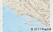 Shaded Relief Map of Split-Dalmatija