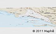 Classic Style Panoramic Map of Split-Dalmatija