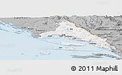 Gray Panoramic Map of Split-Dalmatija