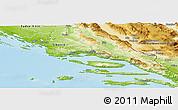 Physical Panoramic Map of Split-Dalmatija