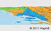 Political Panoramic Map of Split-Dalmatija